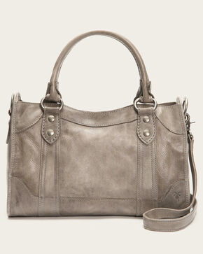 Frye Women's Leather Melissa Satchel , Grey, hi-res