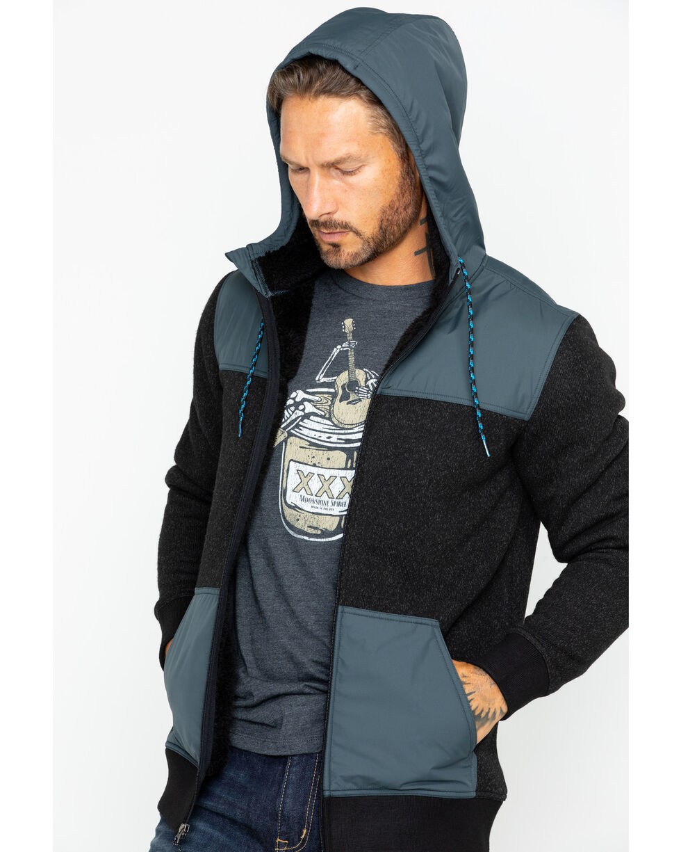 Moonshine Spirit Men's Flask Hooded Sweater, Black, hi-res