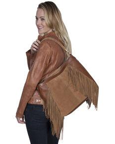 Scully Women's Suede Fringe Handbag, Tan, hi-res