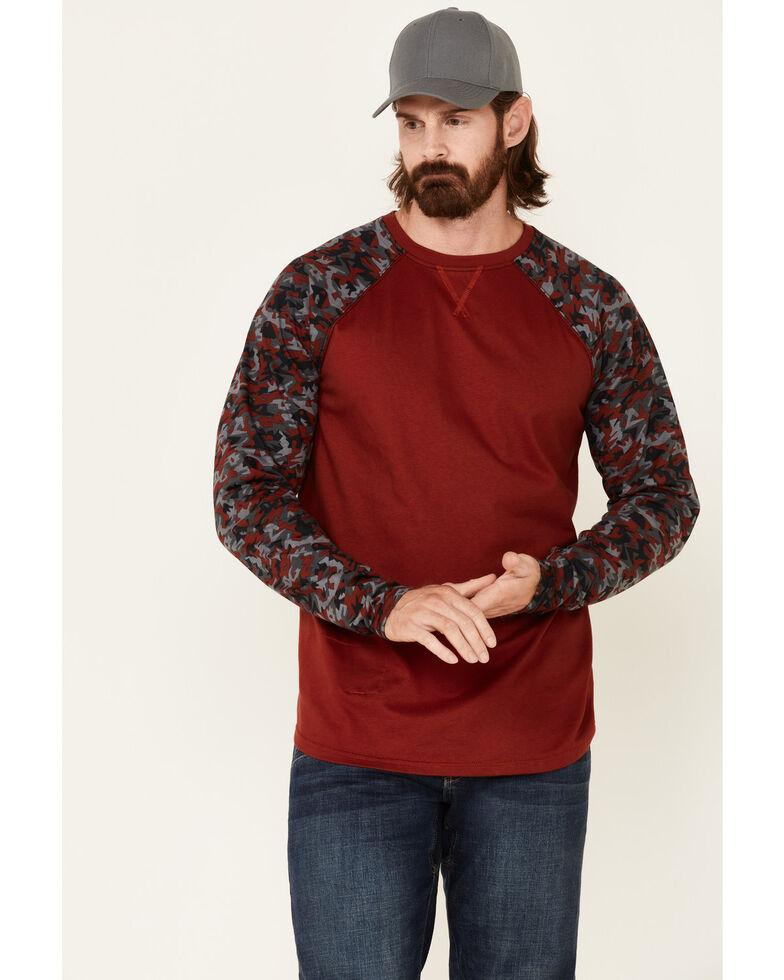Cody James Men's FR Chili Long Sleeve Work Raglan T-Shirt , Chilli, hi-res