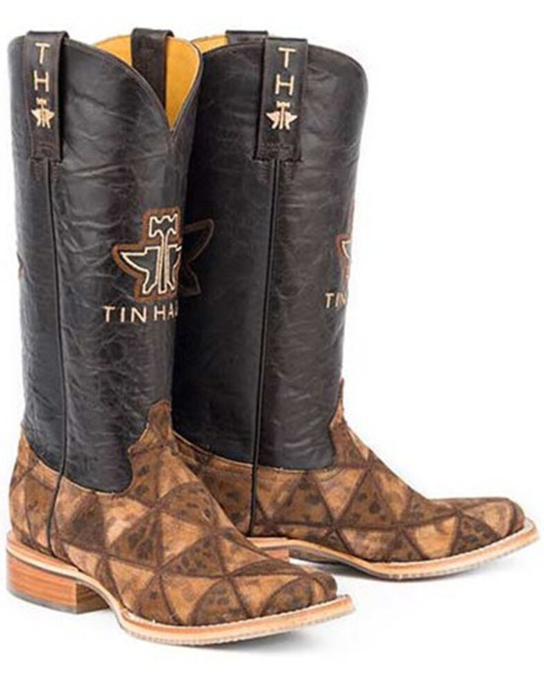 Tin Haul Women's Wild Thing Western Boots - Wide Square Toe, Brown, hi-res