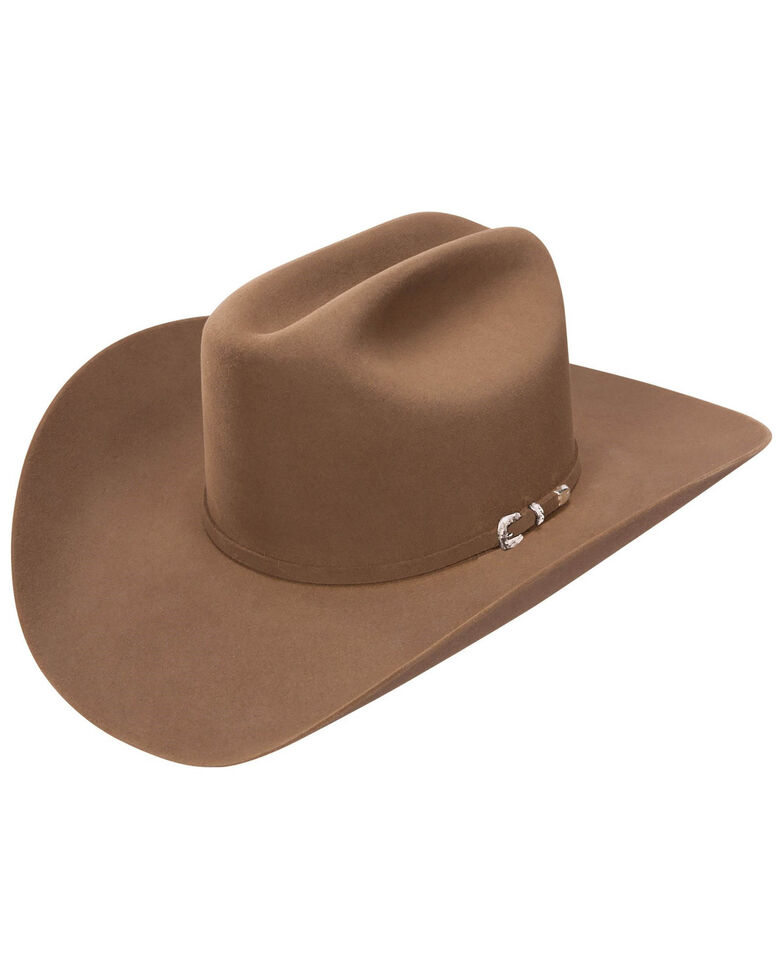 Stetson Men's 5X Chocolate Lariat Fur Felt Western Hat, Chocolate, hi-res