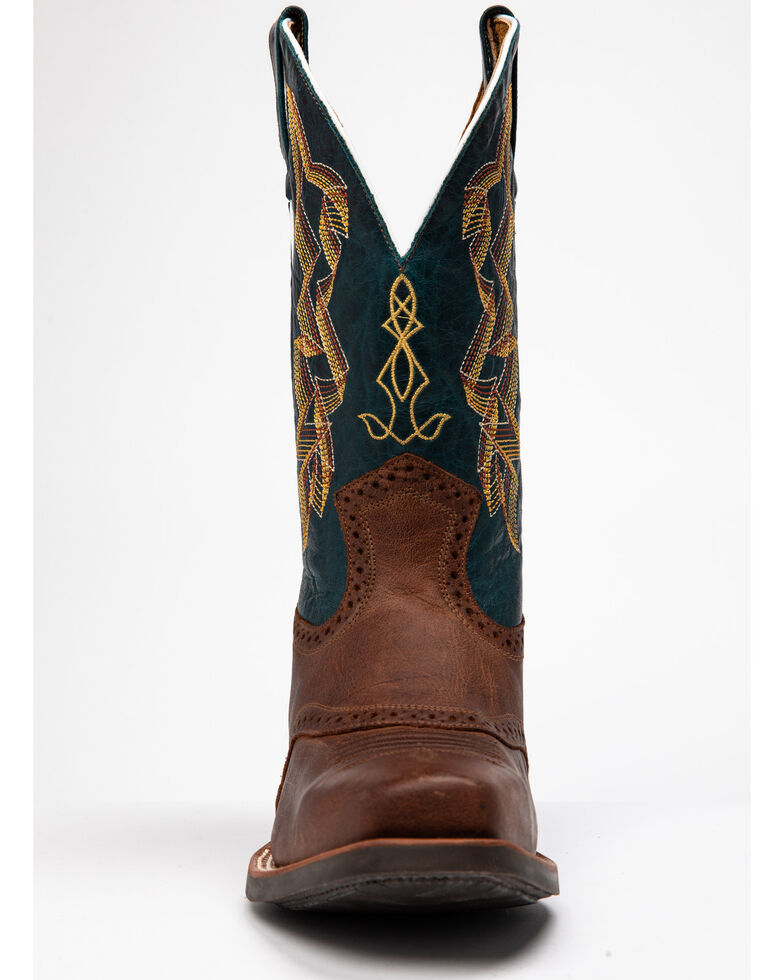 Cody James Men's Tank Western Boots - Round Toe, Brown/blue, hi-res