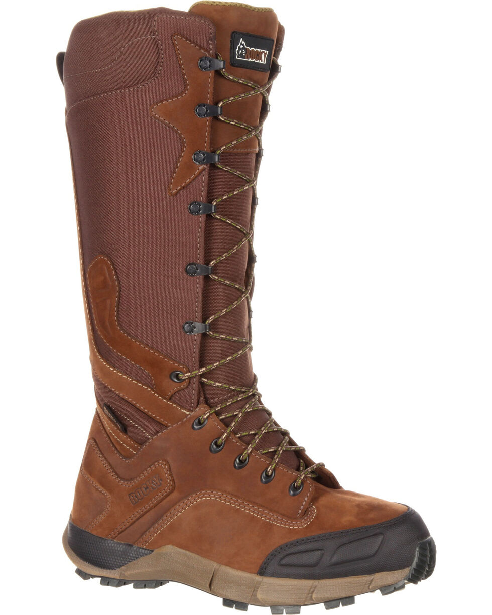 Rocky Men's Broadhead Waterproof Trail Snake Boots, Brown, hi-res