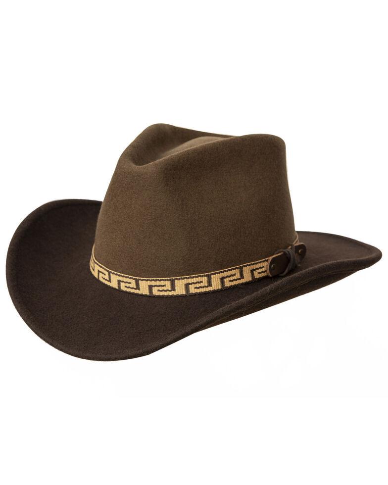 Silverado Men's Brown Mesa Centerfold Western Wool Felt Hat , Brown, hi-res