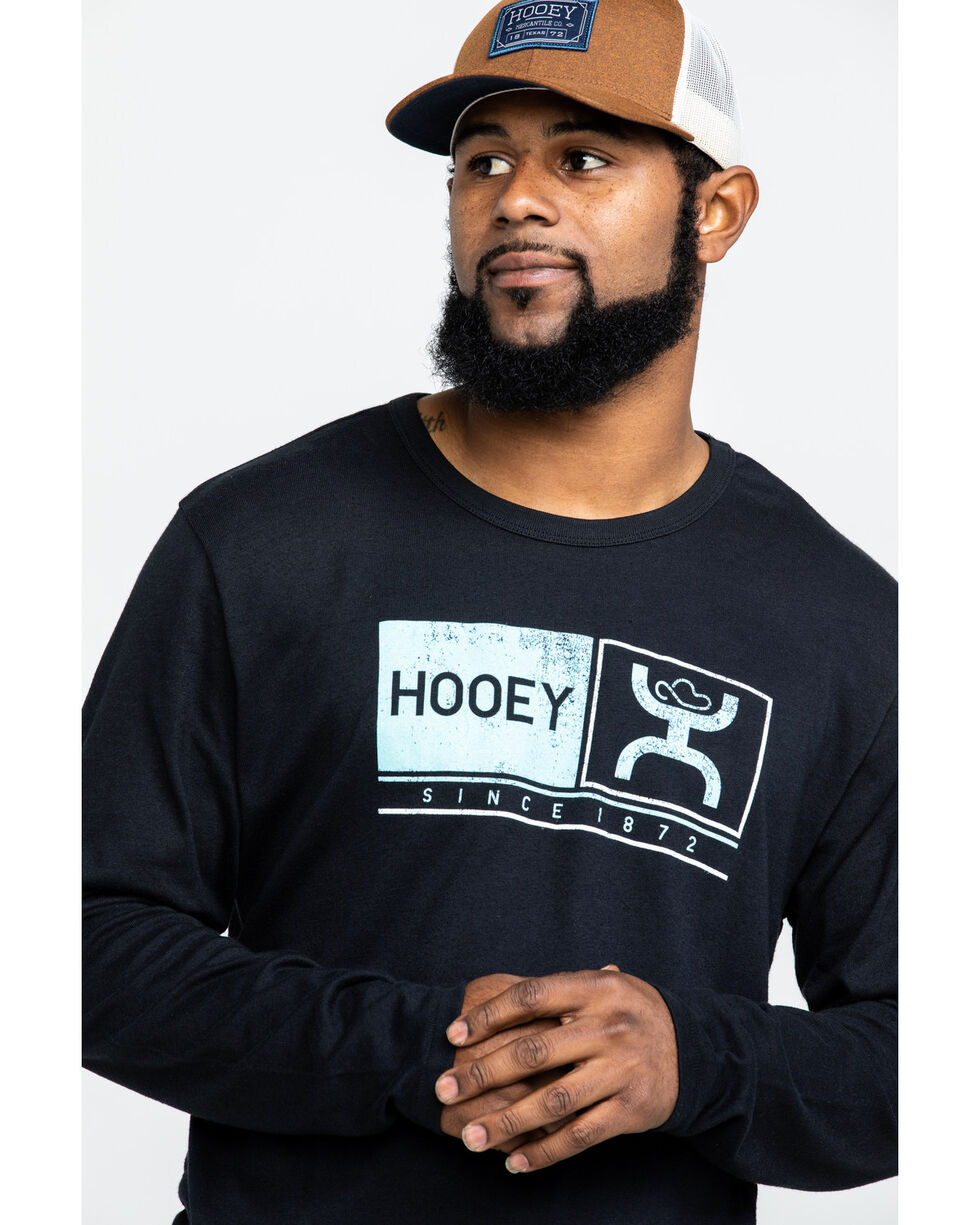 Hooey Men's Roots Graphic Long Sleeve Shirt , Black, hi-res