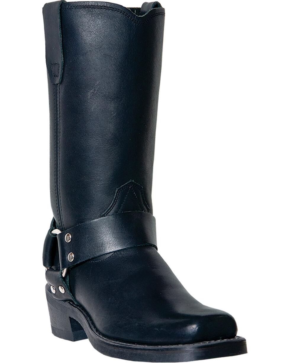 "Dingo Women's Harness 10"" Motorcycle Boots, Black, hi-res"