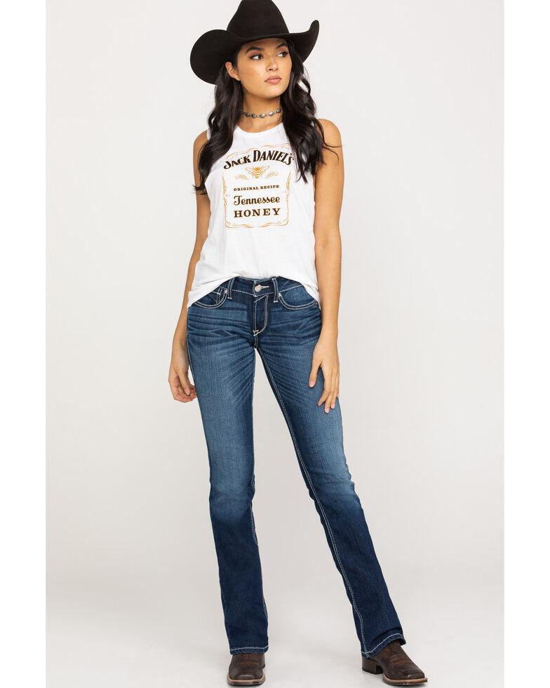 Ariat Women's R.E.A.L. Margot Straight Leg Jeans, Blue, hi-res