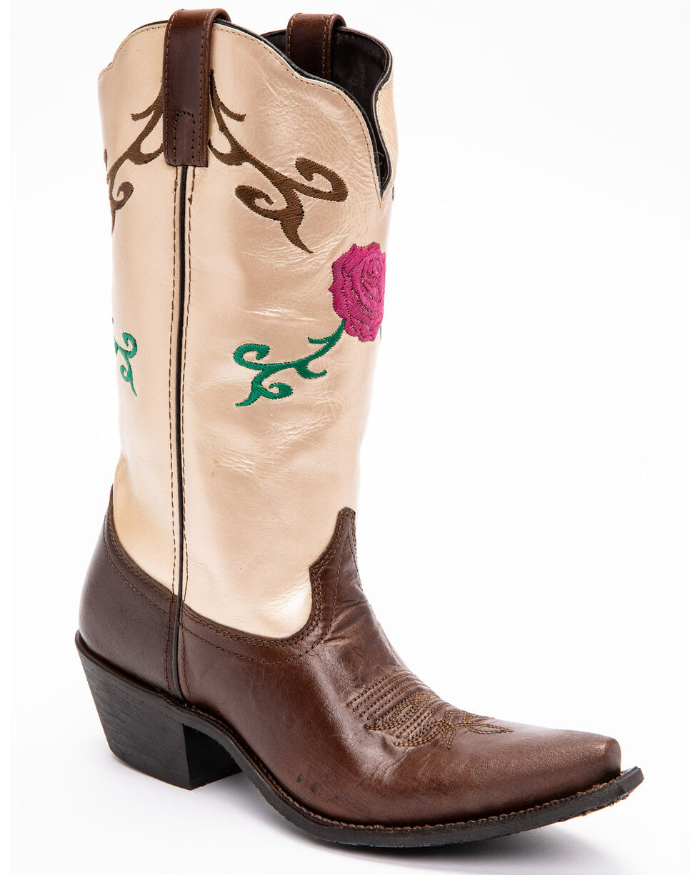 Smoky Mountain Women's Lucky Western Boots - Snip Toe , Brown, hi-res