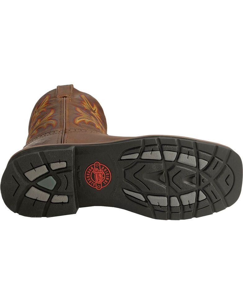 "Justin Men's 11"" Rugged Western Work Boots, Tan, hi-res"