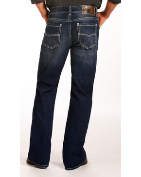Rock & Roll Cowboy Men's Indigo Double Barrel Jeans - Boot Cut , Indigo, hi-res