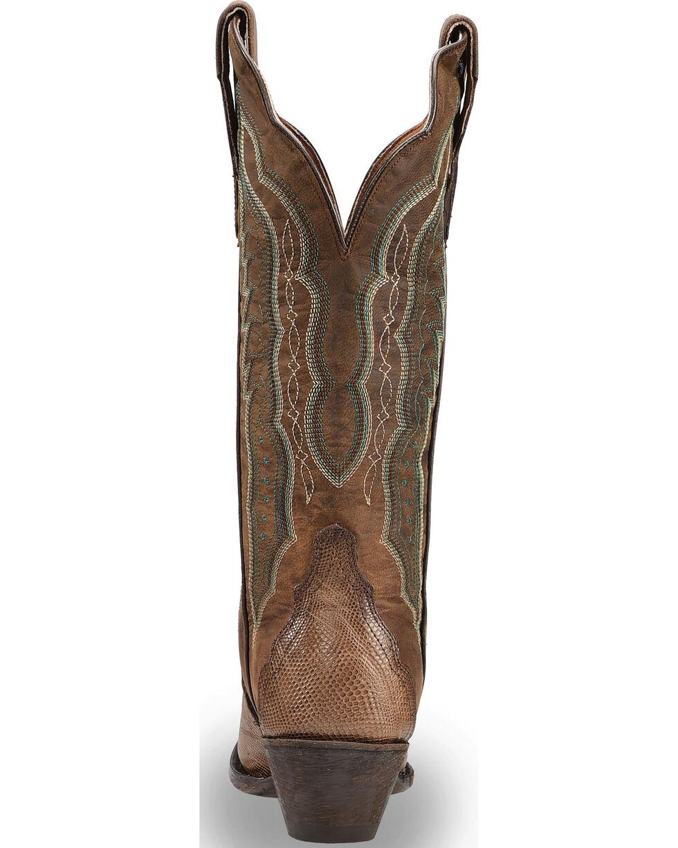 """Dan Post Women's Teju Lizard 13"""" Western Boots - Snip Toe, Brown, hi-res"""