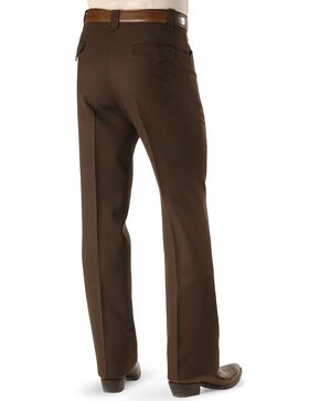 Circle S Men's Lubbock Stretch Slacks, Chocolate, hi-res