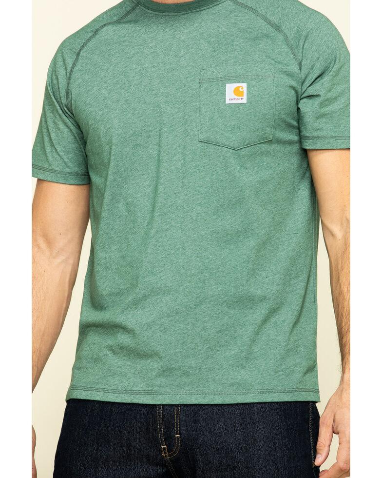 Carhartt Men's Green Force Cotton Delmont Short Sleeve Work T-Shirt - Big , Green, hi-res