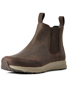 Ariat Men's Spitfire Easy-On Boots - Round Toe, Brown, hi-res