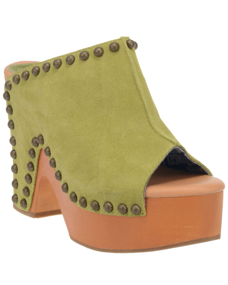 Dingo Women's Peace N' Love Fashion Booties - Round Toe, Light Green, hi-res