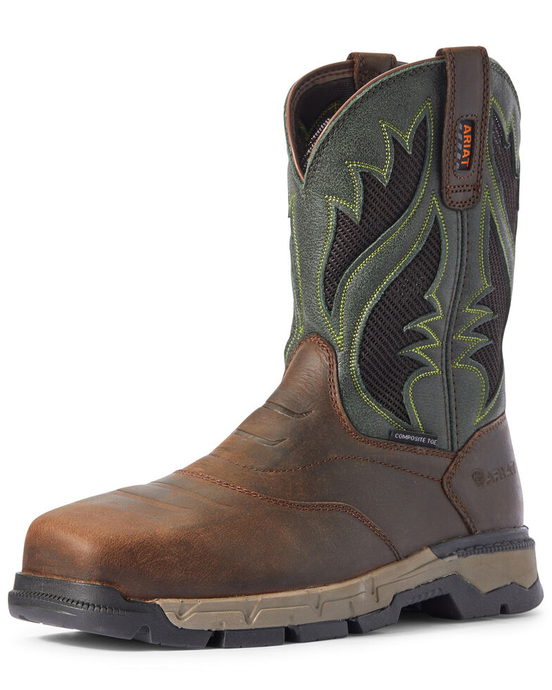Ariat Men's Rebar Flex VentTEK Western Work Boots - Composite Toe, Brown, hi-res