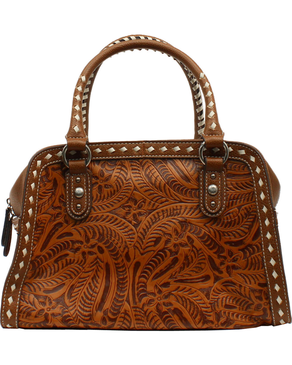 Blazin Roxx Floral Tooled Shoulder Bag, , hi-res