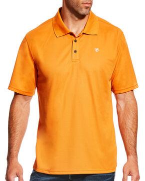 Ariat Men's TEK Short Sleeve Polo - Big & Tall , Orange, hi-res