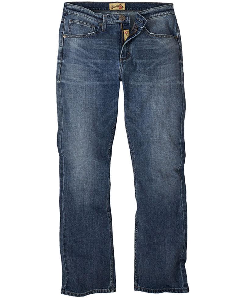 Wrangler 20X Men's Pickett Vintage Stretch Slim Bootcut Jeans , Blue, hi-res