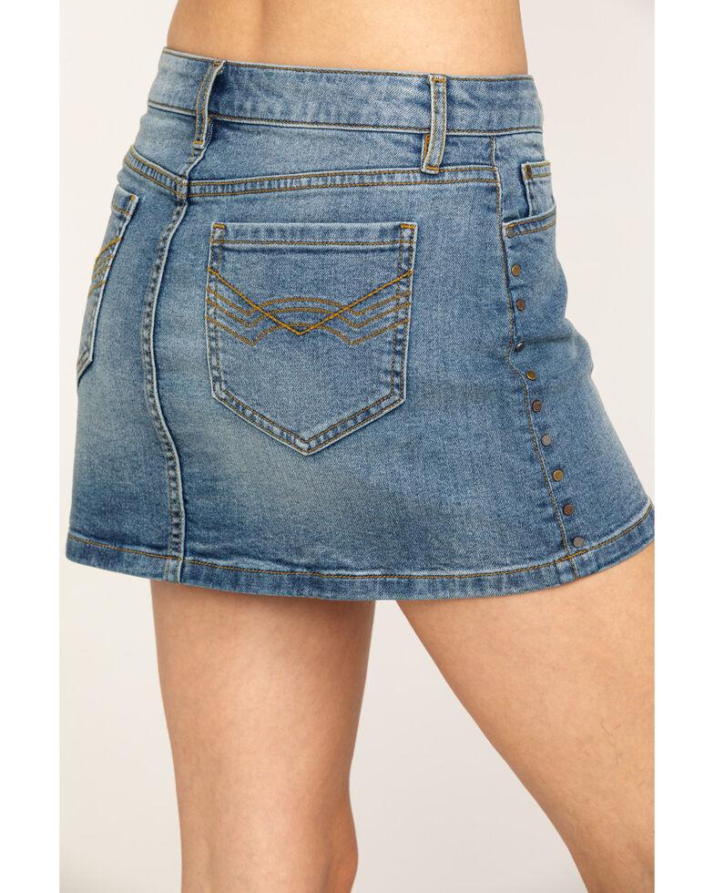Idyllwind Women's Side Stud Stepper Skirt, Blue, hi-res