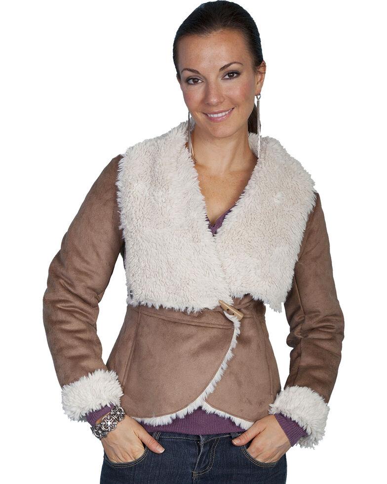 Scully Faux Fur Wrap Jacket, Hazelnut, hi-res