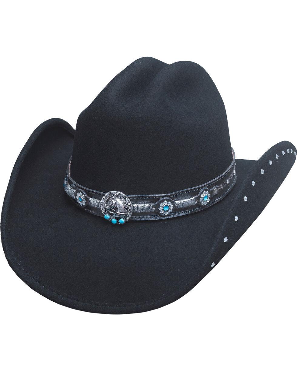Bullhide Women's Desperate Ride Wool Hat, Black, hi-res