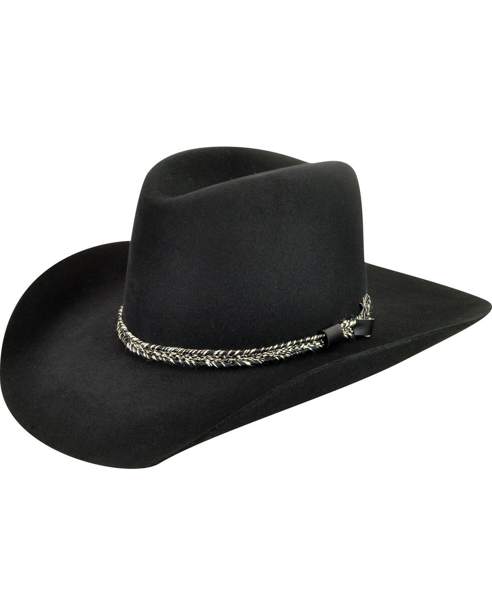 Bailey Men's Black Truckton 3X Cowboy Hat, Black, hi-res