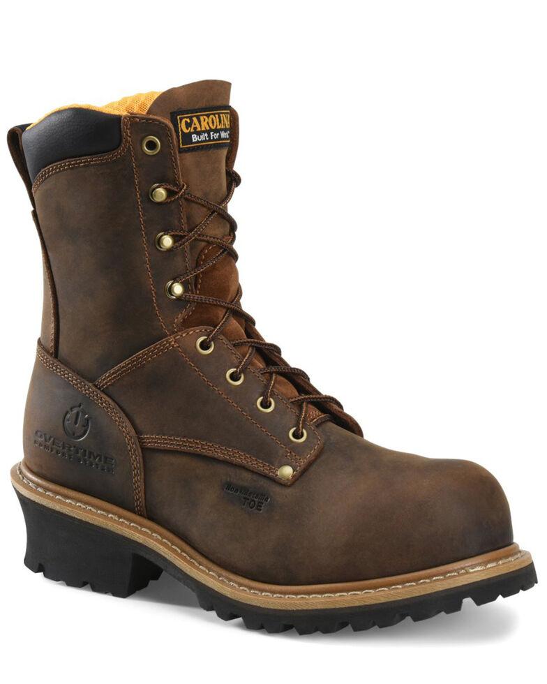 Carolina Men's Poplar Logger Boots - Composite Toe, Beige/khaki, hi-res