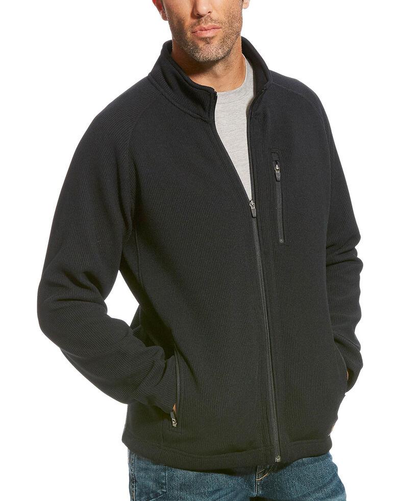 Ariat Men's Black Rebar Duratek Fleece Work Utility Jacket , Black, hi-res
