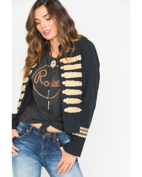 MM Vintage Women's Black Majorette Embroidered Jacket , Black, hi-res