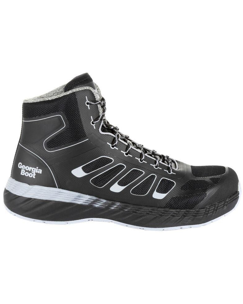 Georgia Boot Men's Reflex Athletic Work Shoes - Alloy Toe, Black, hi-res