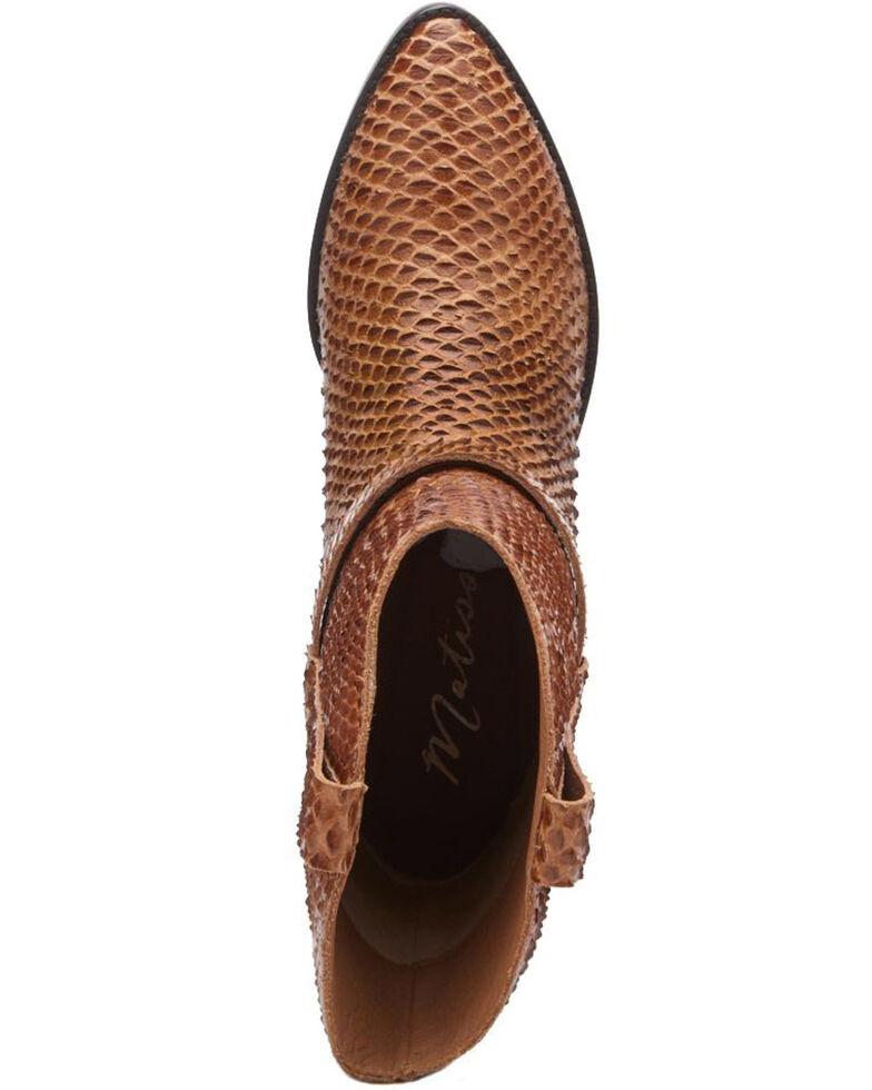 Matisse Women's Cognac Fair Lady Fashion Booties - Pointed Toe, Cognac, hi-res