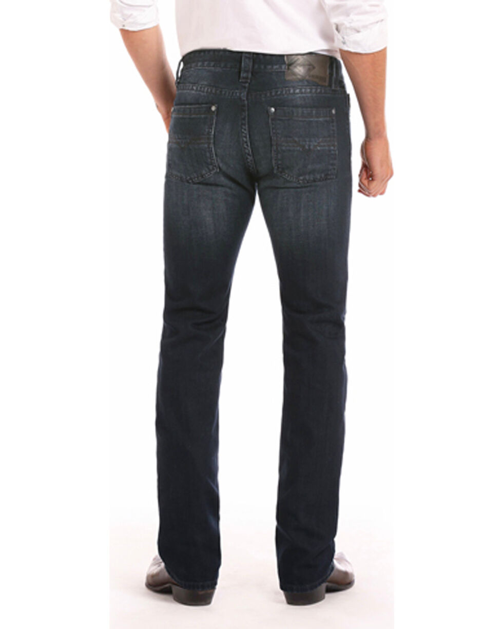 Rock & Roll Cowboy Men's Revolver Jeans - Straight Leg , Indigo, hi-res