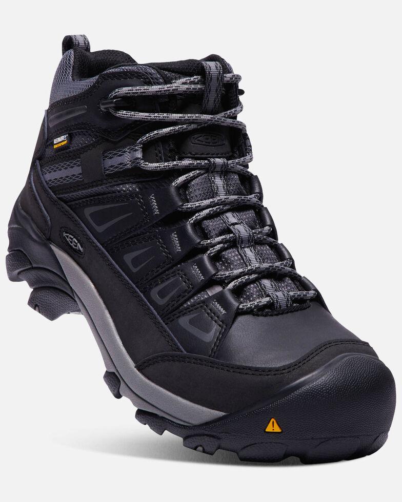 Keen Men's Boulder Waterproof Work Boots - Steel Toe, Grey, hi-res