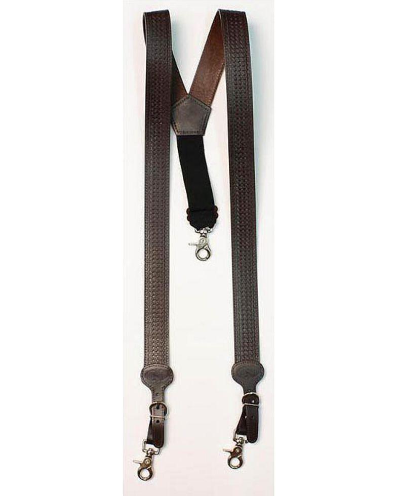 Nocona Leather Basketweave Men's Suspenders, Assorted, hi-res