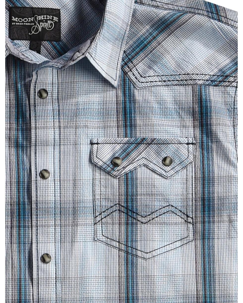 Moonshine Spirit Men's White Plaid Ghost Town Shirt , White, hi-res