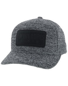 HOOey Men's Grey Tweed Cactus Ropes Flex Fit Cap , Grey, hi-res