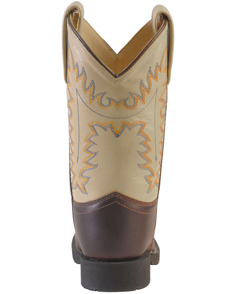 Jama Youth Comfort Western Boots, Oiled Rust, hi-res
