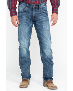 Silver Men's Eddie Relaxed Straight Tapered Jeans , Indigo, hi-res