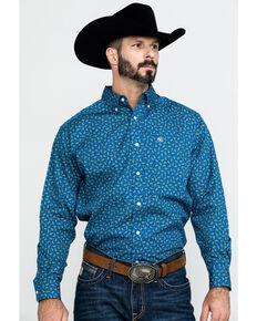 Ariat Men's Balter Paisley Print Long Sleeve Western Shirt , Blue, hi-res