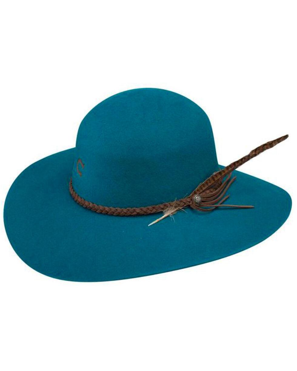 Charlie 1 Horse Women's Teal Free Spirit Wool Hat, Teal, hi-res