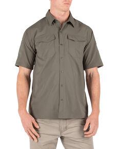 5.11 Tactical Men's Freedom Short Sleeve Shirt, Green, hi-res