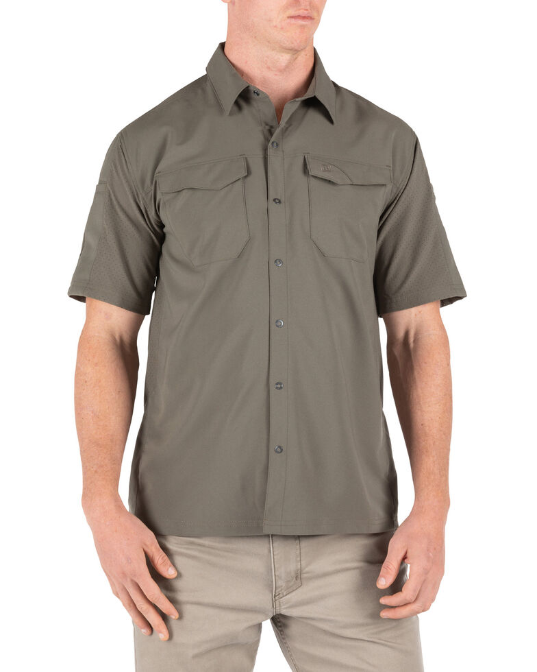 5.11 Tactical Men's Freedom Short Sleeve Shirt, Green, hi-res