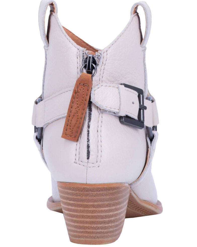 Dingo Women's Keepsake Braided Harness Fashion Booties - Round Toe, Ivory, hi-res