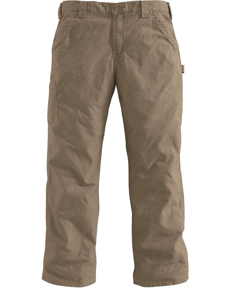 Carhartt Men's Canvas Dungaree Work Pants, Light Brown, hi-res