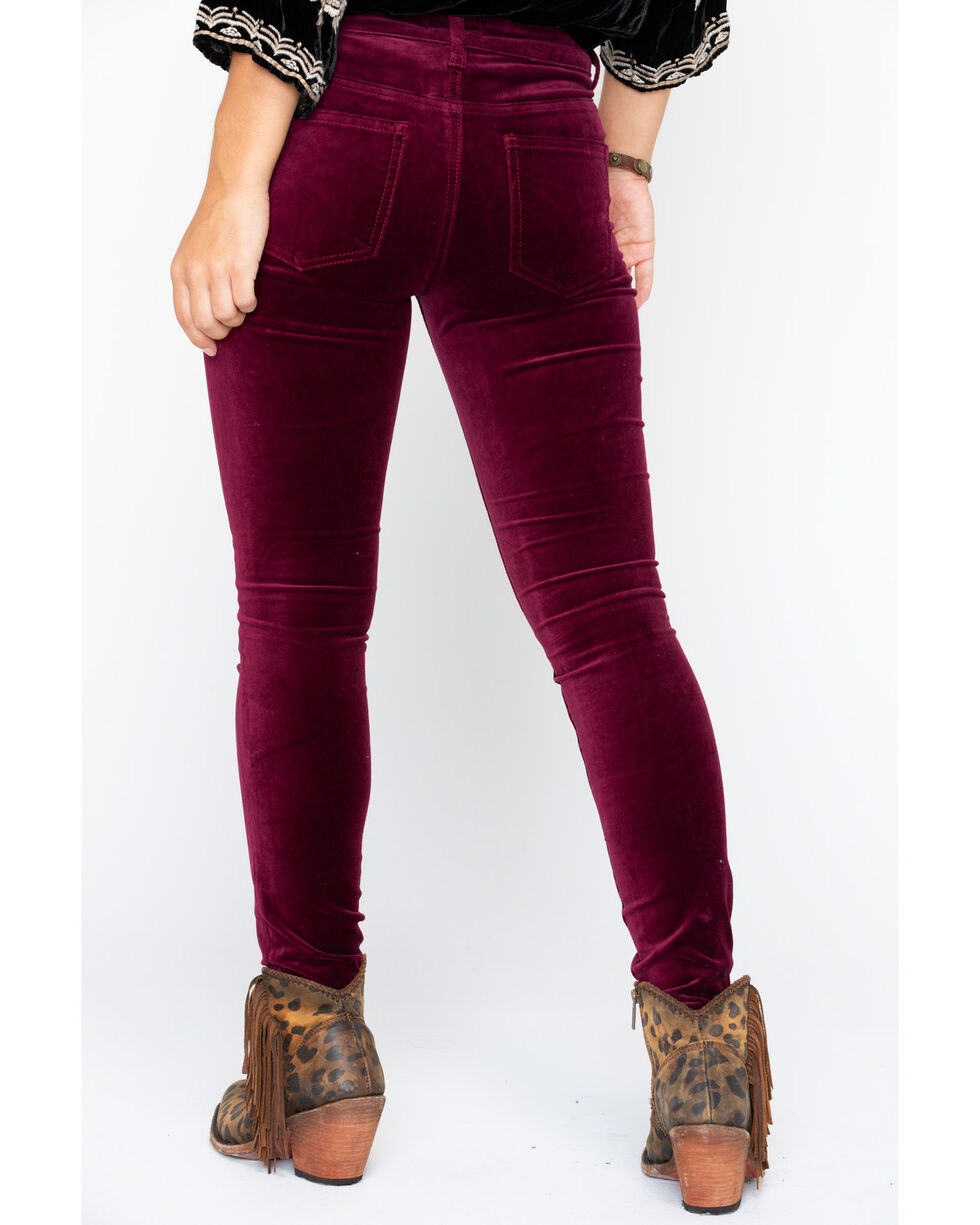 Silver Women's Aiko Skinny Jeans, Black Cherry, hi-res