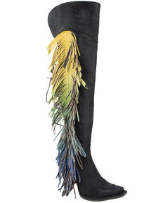 Junk Gypsy by Lane Women's Spirit Animal Tall Boots - Snip Toe , Black, hi-res