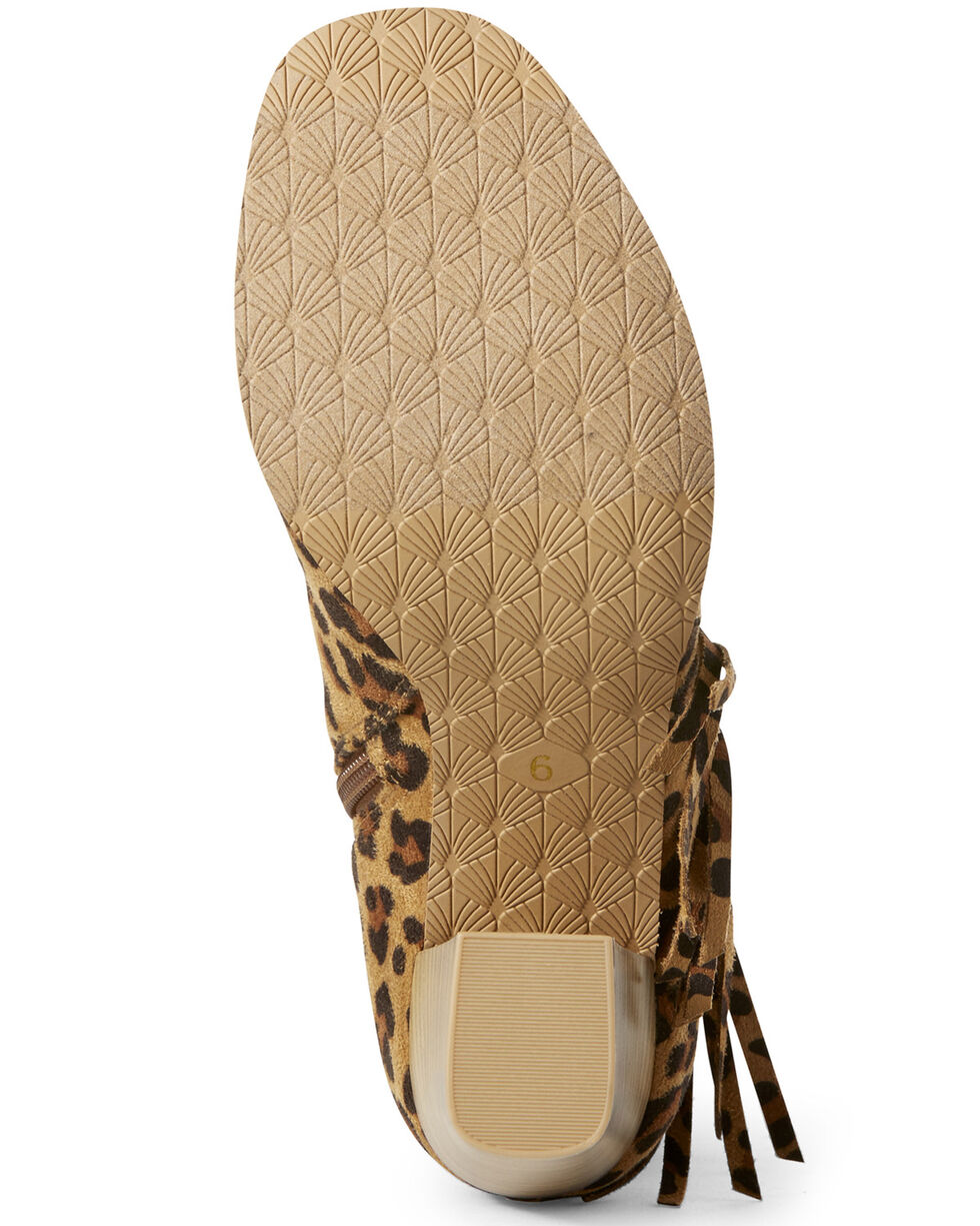Ariat Women's Unbridled Scarlet Leopard Fashion Booties - Open Toe, Leopard, hi-res