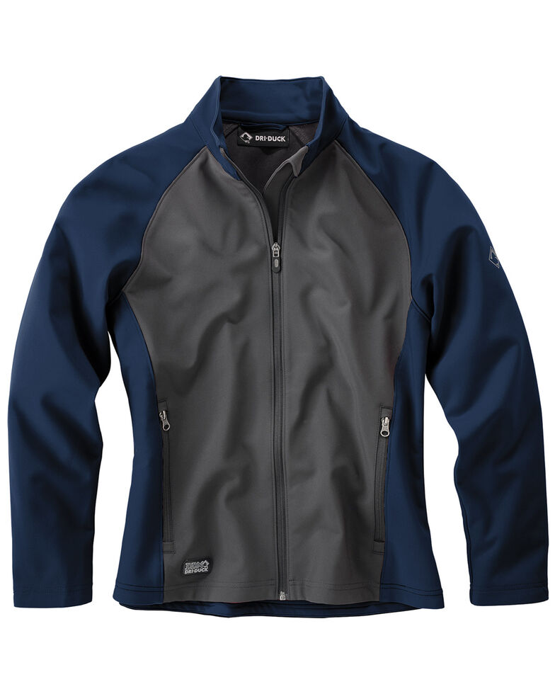 Dri Duck Women's Contour Softshell Jackets - Plus Size, Blue, hi-res